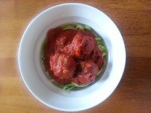 "Zucchinetti and Meatballs ""S"""